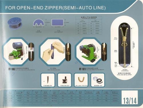 Semi Auto Line OPEN- END ZIPPER