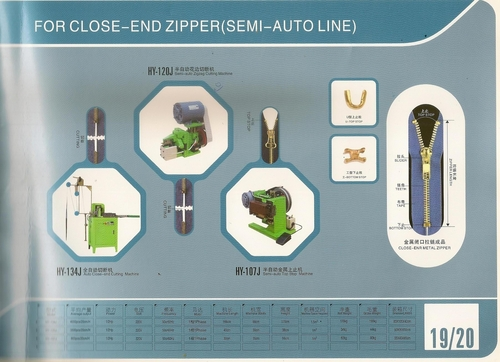 Zipper FOR CLOSE- END