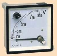 Analogue Panel Voltmeter with Built-in Selector Sw