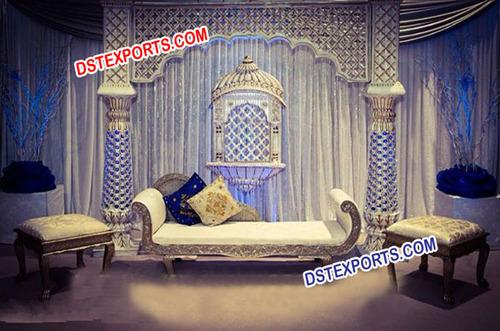 Royal Muslim Wedding Stage Set