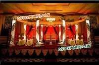 Wedding Crystal  Six Pillar Mandap