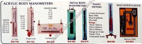 Acrylic  body manometers metal body manometer