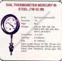 Dial thermometer mercury