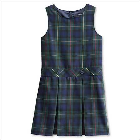 Girls School Uniform Plaid Jumper