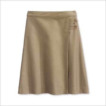 Girls Plaid Pleated Skirt