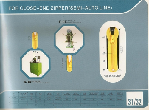 CLOSE END ZIPPER Machine
