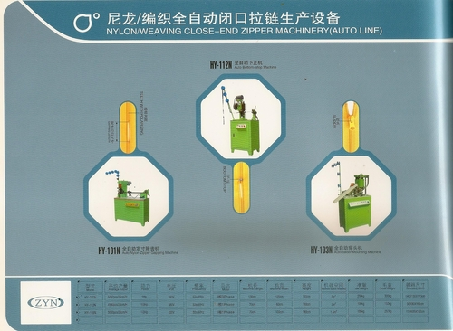 NYLON ZIPPER MACHINERY