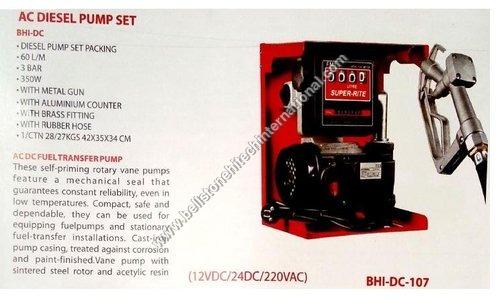 Diesel pump set flow meter