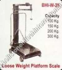 Loose weight platform scale