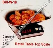 Retail table top scale