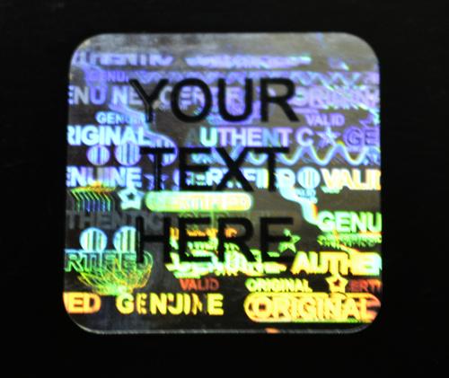 Generic stock hologram labels