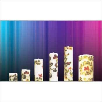 Printed Pillar Candle