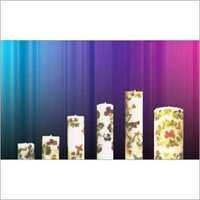 Printed Pillar Candle