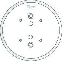 105 MM CEILING PLATE