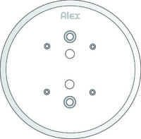 125 MM CEILING PLATE