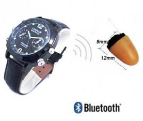 SPY BLUETOOTH WATCH EARPIECE SET IN DELHI INDIA