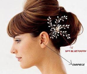 SPY BLUETOOTH HAIR CLIP EARPIECE SET IN DELHI INDIA