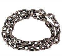 Pave Diamond Gold Necklace
