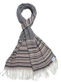 Silk wool crinkle scarf