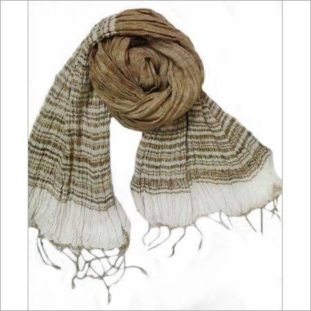 Tussar Silk Natural Crinkle Scarf