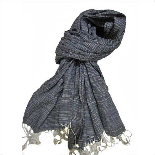 Designer Tussar Silk Crinkle Scarf
