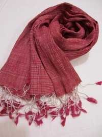 Tye-Dye Silk & Cotton Crinkle Scarf