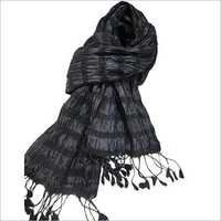 Black Beauty Crinkle Scarf