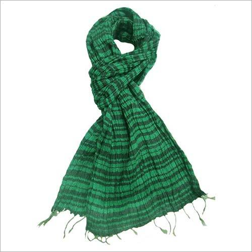 Colorful Tussar Silk & Cotton blended scarf