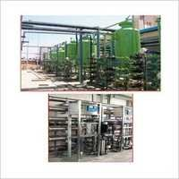 Demineralization and softening plant