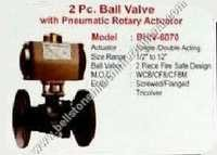 2 PC ball valve with pneumatic rotary actuator