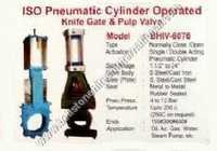 ISO Pneumatic cylinder operated knife gate & pulp