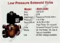 Low pressure solenoid valve