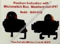 Position indication with microswitch box , weather