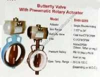 Butterfly valve with pneumatic rotary actuator