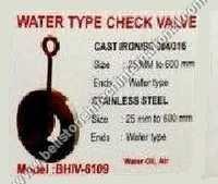 Water type check valve