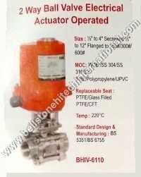 2 way ball valve electrical actuator operated