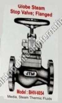 globe steam stop valve flanged