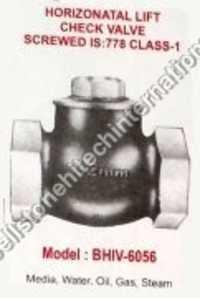 horizontal lift check valve