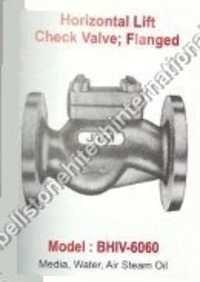 horizontal lift check valve flange