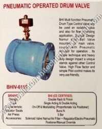 pneumatic operated drum valve