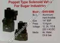 poppet type solenoid valve for sugar industries