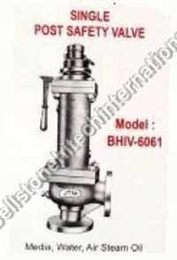 single post safety valve