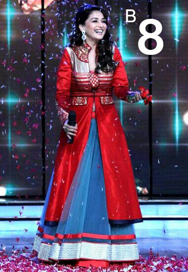 Madhuri Dixit Bollywood Style Suit