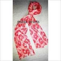 Stylish Silk Screen Print Scarf