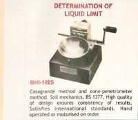 Determination of Liquid Limit