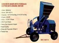 Concrete Mixer with Hydraulic Hopper With Engine