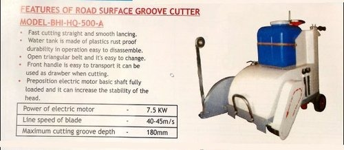 FEATRURE OF ROAD SURFACE GROOVE CUTTER