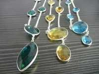 Gemstone Bazel Set Necklace