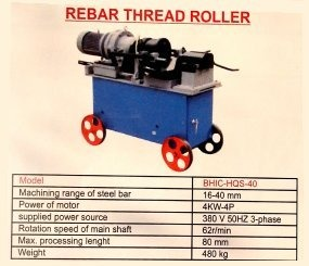 Rebar Thread Roller