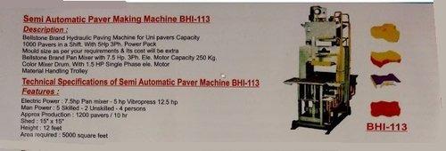 Semi Automatic Paver Making Machine
